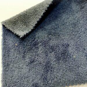 tissus éponge microfibre bambou coloris bleu jean en largeur 150cm pour serviettes et lingettes lavables