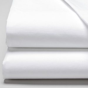 tissu coton percale blanc