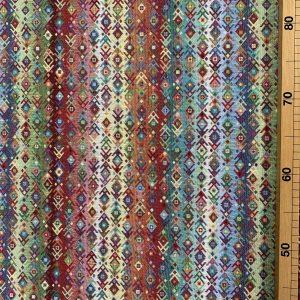 tissus jacquard fantaisie couleur multicolore motif géométrique