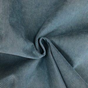 Velours côtelé modèle Starsky couleur bleu canard