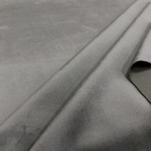 Velours ras uni couleur gris souris