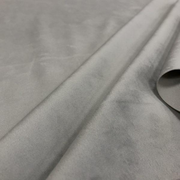 Velours ras uni couleur gris perle