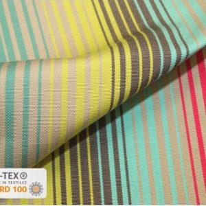 toile extérieure rayures multicolores anti taches outdoor teflon