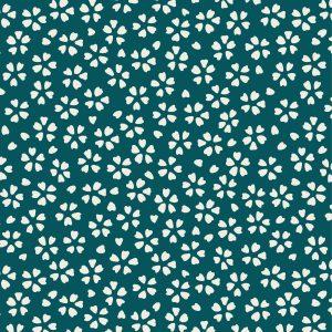 DAISY col Pétrole, tissu plein air polyester traité anti-taches, magnifiques coloris