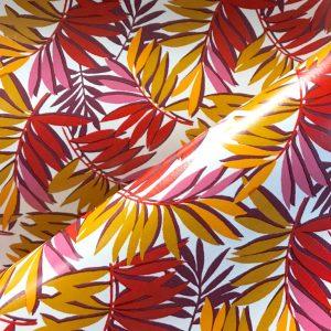 toile cirée traitée oeko tex largeur 140cm curacao rouge
