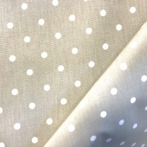 toile coton panama épaisse traitée PVC pour nappage motifs POIS MAT