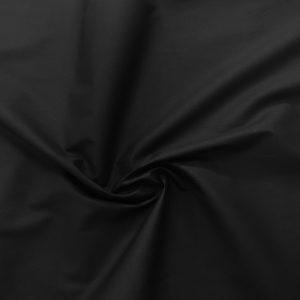 popeline de coton mercerisé coloris noir