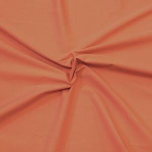 popeline de coton mercerisé coloris orangé
