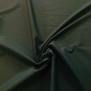 popeline de coton mercerisé coloris vert sapin
