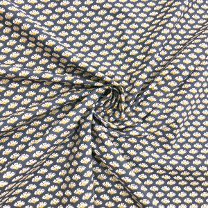 tissu coton imprimé pettis motifs sirko fond marine