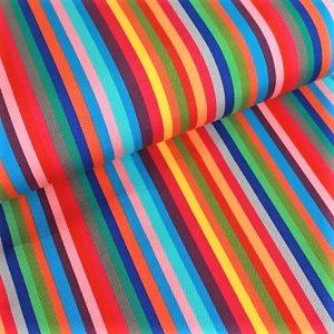 toile extérieure rayures multicolores anti taches outdoor teflon REF Pampelonne coloris anis