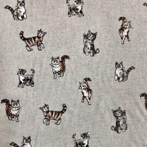 toile coton et polyester imprimée chats