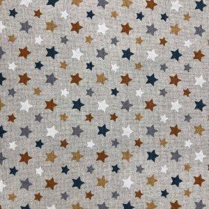 toile coton polyester imprimée étoiles