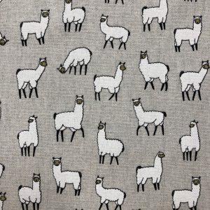 toile en coton et polyester imprimée lamas