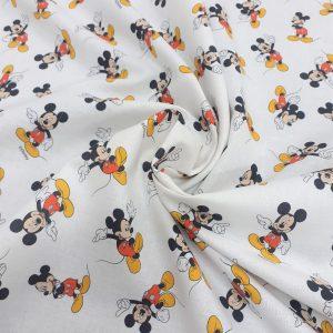 tissu cretonne en coton imprimé garanti Oeko-Tex REF MICKEY