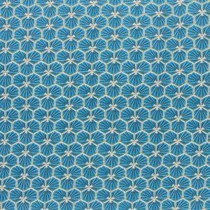 tissu cretonne en coton imprimé garanti Oeko-Tex REF RIAD coloris BLEU CANARD