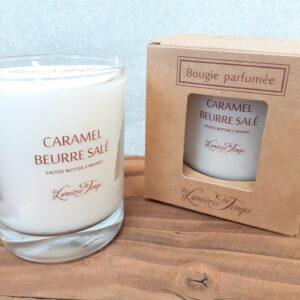 bougie parfumée Les Lumières du Temps en 180gr, Senteur Caramel Beurre Salé