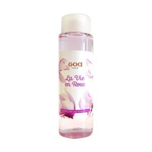 recharge pour diffuseur GOA goatier en 250ml, fabrication française, en 250ml, parfum LA VIE EN ROSE