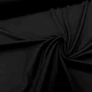 tissu coton jersey bio et oekotex coloris noir