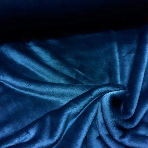 tissu polaire uni très doux coloris marine
