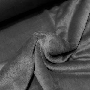 tissu polaire uni très doux coloris gris foncé