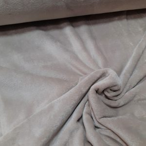 tissu polaire uni très doux coloris taupe