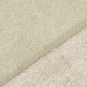 tissus éponge microfibre bambou coloris beige sable en largeur 150cm pour serviettes et lingettes lavables