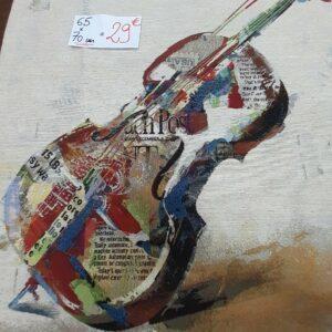 carré de tapisserie pour tableau ou coussin motif violon