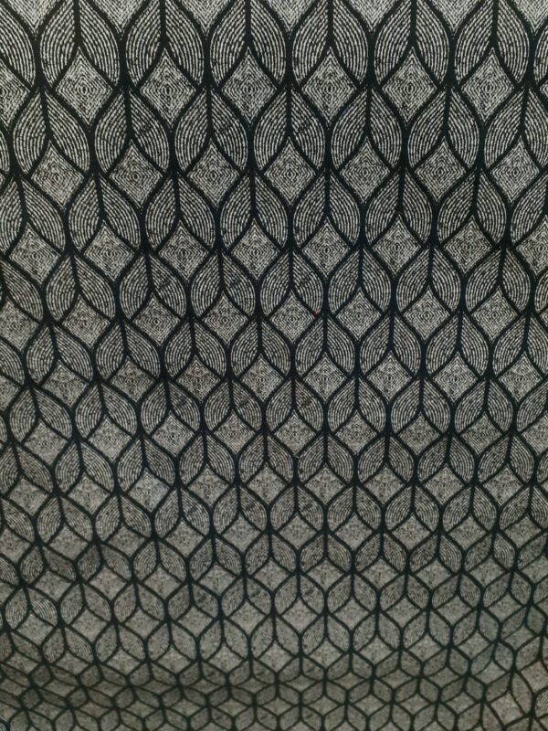 NOUMA COL GRIS ANTHRACITE tissu jacquard en grande largeur 280cm Fabrication Française