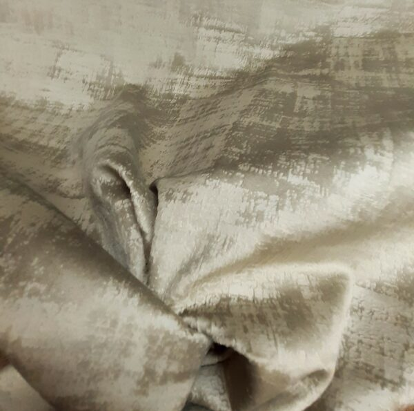 tissu ameublement velours marbré coloris beige