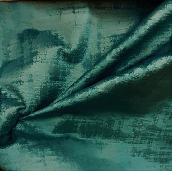 tissu ameublement velours marbré coloris bleu vert canard