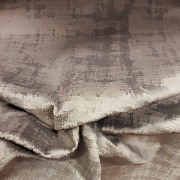 tissu ameublement velours marbré coloris marron glacé