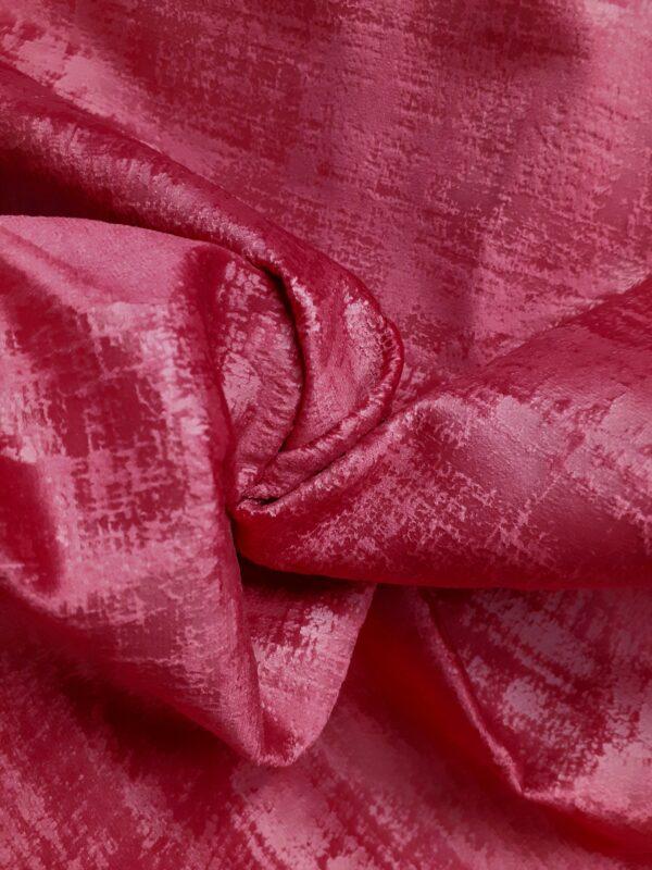 tissu ameublement velours marbré coloris rouge théâtre