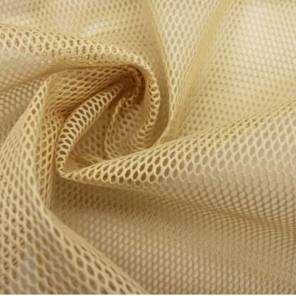 tissu filet MESH coloris beige sable, idéal pour sac à vrac, pochon de lavage pour vos lingettes démaquillantes ou lingerie fragile