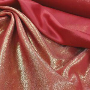tissu ameublement satin rouge lurex brillant réversible en grande largeur pour décos, rideaux ou nappages