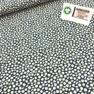 tissu coton imprimé BIO et OEKOTEX motifs fleurettes