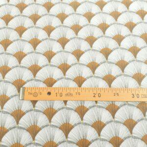tissu coton enduit grande largeur Papyrus Jaune Ocre