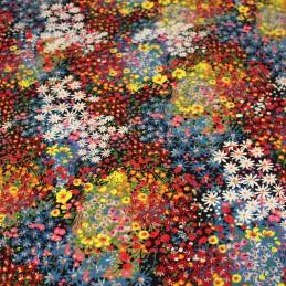 tissu popeline viscose made in France Habibi pour coudre robes légères et blouses ALICIA NOIR