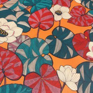 tissu ameublement Velours Idris coloris Rose Brique fond Orange