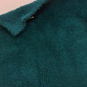 tissus éponge microfibre bambou coloris bleu canard en largeur 150cm pour serviettes et lingettes lavables