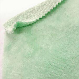 tissus éponge microfibre bambou coloris bleu vert jade en largeur 150cm pour serviettes et lingettes lavables