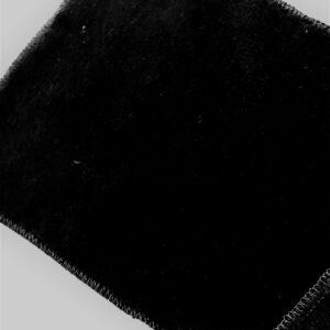 tissus éponge microfibre bambou coloris noir en largeur 150cm pour serviettes et lingettes lavables