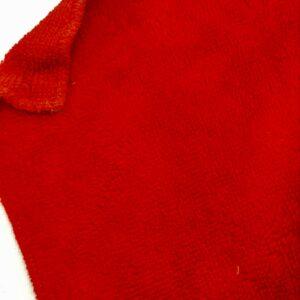 tissus éponge microfibre bambou coloris rouge en largeur 150cm pour serviettes et lingettes lavables
