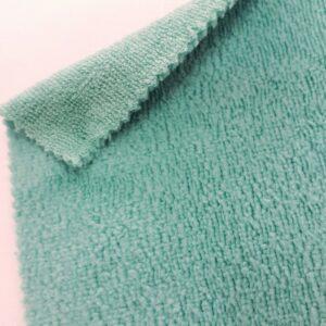 tissus éponge microfibre bambou coloris bleu turquoise en largeur 150cm pour serviettes et lingettes lavables