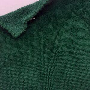 tissus éponge microfibre bambou coloris vert sapin en largeur 150cm pour serviettes et lingettes lavables