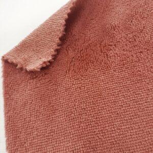 tissus éponge microfibre bambou coloris vieux rose en largeur 150cm pour serviettes et lingettes lavables