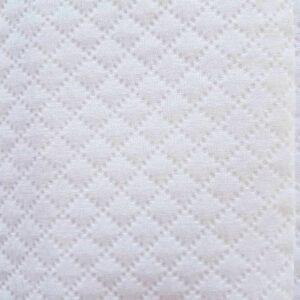 tissu en piqué de coton blanc en 150cm de largeur